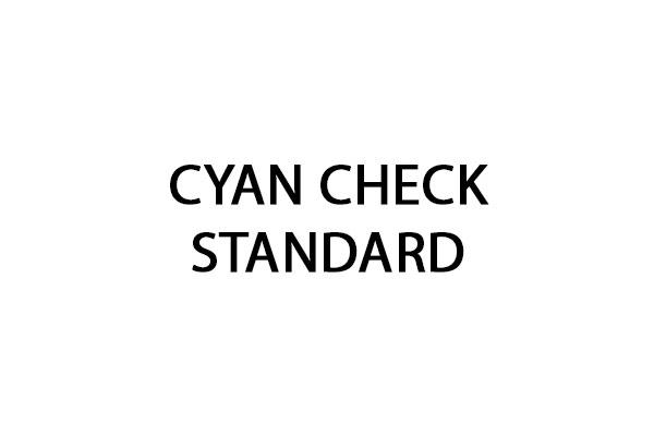 Code peinture Cyan Check Standard