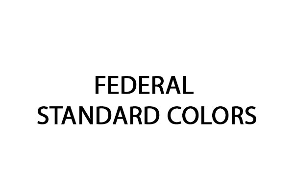 Code peinture Federal Standard Colors